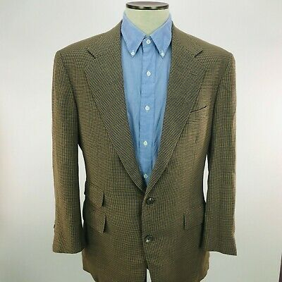 Polo Ralph Lauren Mens 39R Brown Houndstooth Two Button Sports Coat