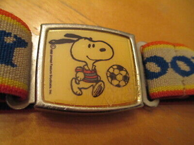 1958 kids SNOOPY belt magnet closure vtg adjustable United Feature Syndicate Old