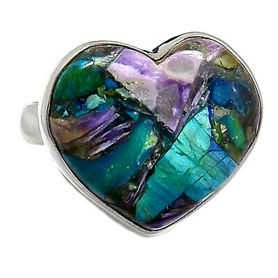 Hearty Artisan Jewelry & Watches Ethiopian Opal 925 Sterling Silver Ring Jewelry S.7 Ar3491