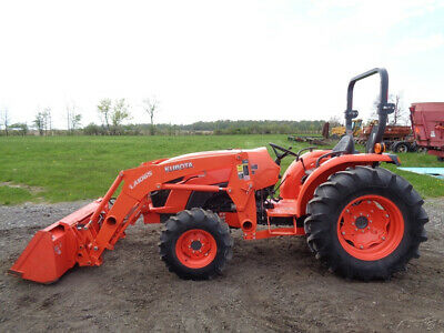 KUBOTA BX2360 TRACTOR, 4WD, Hydro, LA243 Front Loader, R4 Tires, 227