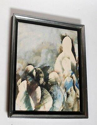 Interesting abstract painting, framed