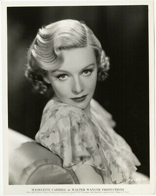 Madeleine Carroll Dramatic Photograph Vintage 1936 Icy Blonde Art Deco Beauty