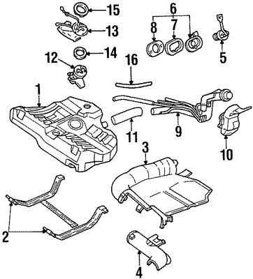 Ford Oem Fuel System Hose F7cz9047aa