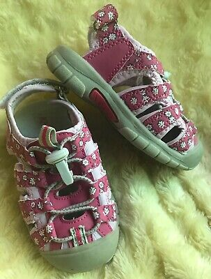 ba0f8d478 Toddler Girl Khombu Alli Hiking Shoe Sandal Active Water Sport Pink Floral  Sz 7