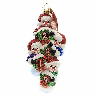 Christopher Radko Quadruple The Frosty Fun in 2019 Christmas Ornament