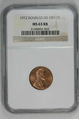 1972 PCGS MS63RB FS-101 Red Brown DDO Double Doubled Die Obverse Lincoln Cent