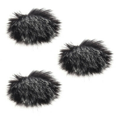 Furry Outdoor Microphone Windscreen Muff Mini Lapel Lavalier Microphone J5Y9