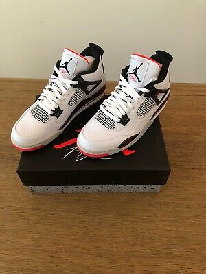 purchase cheap 62096 46a7f 2019 Nike Air Jordan 4 Retro Flight Nostalgia SZ 12 Hot Lava Crimson 308497- 116