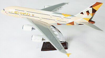 ETIHAD A380 Airbus LARGE  PLANE MODEL AIRPLANE APX 47cm SOLID RESIN