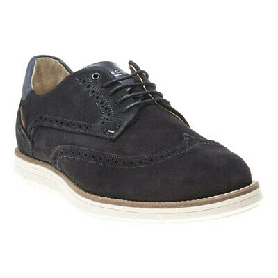 New Mens Simon Carter Navy Parry Suede Shoes Brogue Lace Up