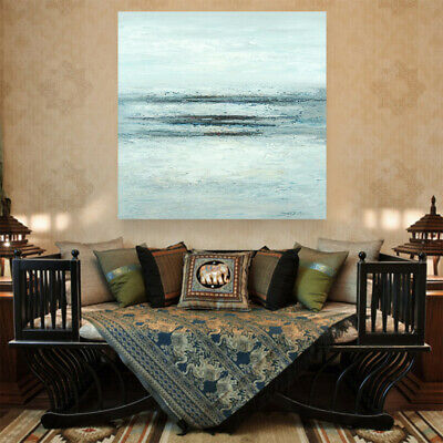 Abstract Seascape Hand Painted Art Canvas Oil Painting Modern Home Decor Framed