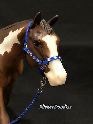 Breyer Traditional size-Stock Halter & Lead Rope-Dazzled Blue