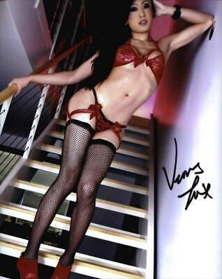 certificate- proof- Venus Lux Signed Ts Model 8x10 Photo a0186