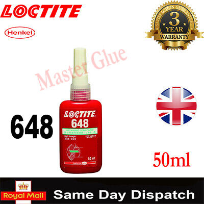 LOCTITE 648 50ml /577/290/638/648/ THREADLOCK ADHESIVE GLUE 10ml/ 20 250 300 ML