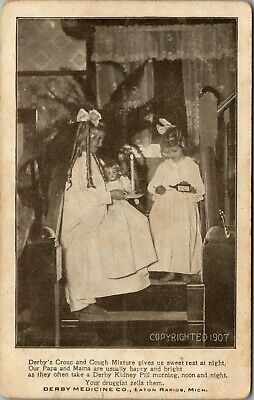 Eaton Rapids~Girls Give Derby Croup Meds to Dolly~Parents Use Kidney Pill c1910