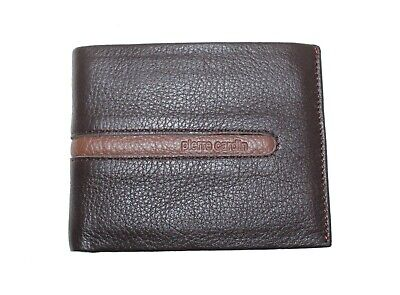 Father's Day Gift Pierre Cardin Genuine Italian Leather Mens Trifold Wallet RFID