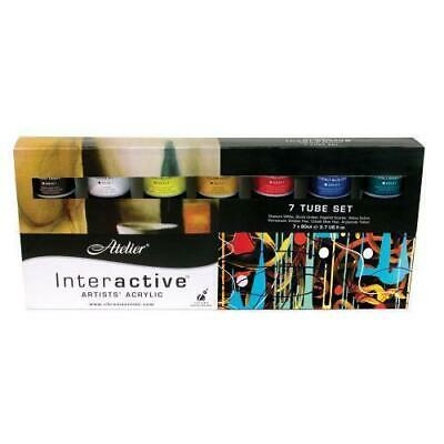 Atelier Interactive Acrylic Paint Set - 7 x 80ml Tubes (Basic Colours)
