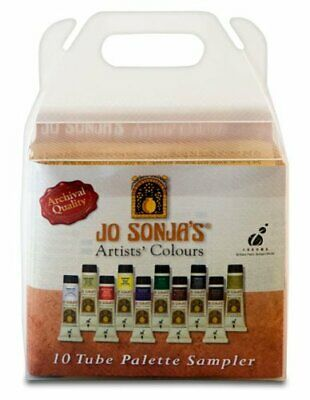 Jo Sonja Acrylic Paint Sampler Set - 10 x 20ml Tubes