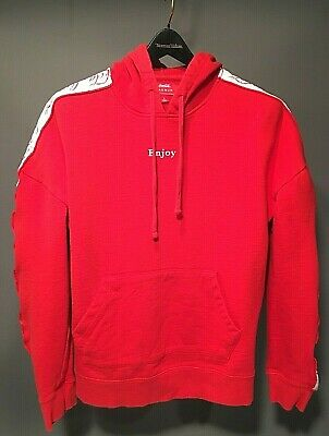 52bbdfb15 Pacsun Enjoy Coca Cola Mens / Boys Red Side Tape Hoodie Sweatshirt - Size  Small
