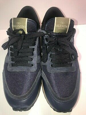 491968fede274 Valentino $845 NWOT MEN'S SZ 40 SHOES SUEDE TRAINERS ROCKSTUD SNEAKERS  #4585A1