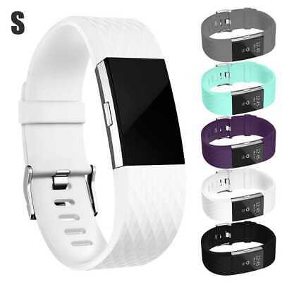 Band Replacement Wristband Strap TPU Silicone for Fitbit Charge 2 White Size S