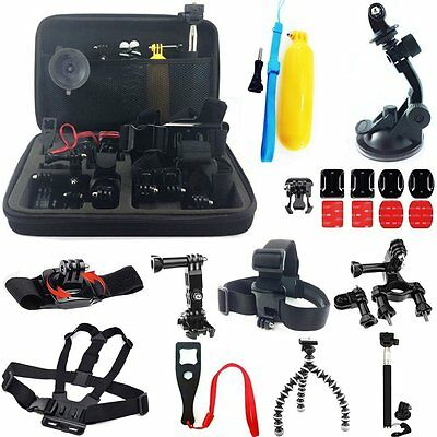 24 In 1 Accessories Set Kit w Carry Bag for GoPro Hero 4 3+ 3 2 SJcam Sports Cam