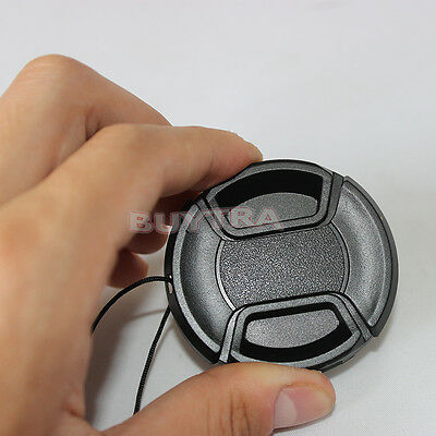 Best 52mm Center Pinch Snap on Front Cap Cover For Sony Canon Nikon LensG$
