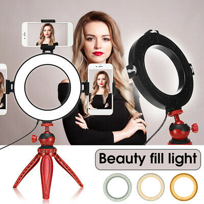 LED Ring Light Studio Photo Video Dimmable Lamp Tripod Stand Camera Phone Selfie