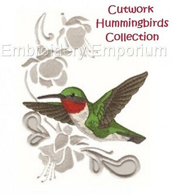Cutwork Hummingbird Collection - Machine Embroidery Designs On Cd Or Usb