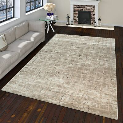 Tapis pas cher Carreau Design Moderne Salon Tapis Marron ...