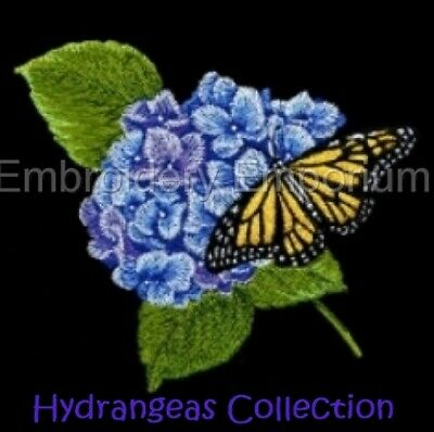 Hydrangeas Collection - Machine Embroidery Designs On Cd Or Usb