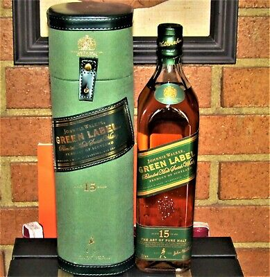 Johnnie Walker Green Label 15yo Blended Malt Whisky 70cl,43% with Special Box