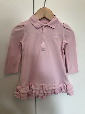95b50f884 RALPH LAUREN BABY Girl Dress 9 Months Pink - £13.50 | PicClick UK