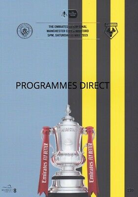 FA CUP FINAL 2019  MAN CITY v WATFORD MINT PROGRAMME MANCHESTER  + FREE EXTRA