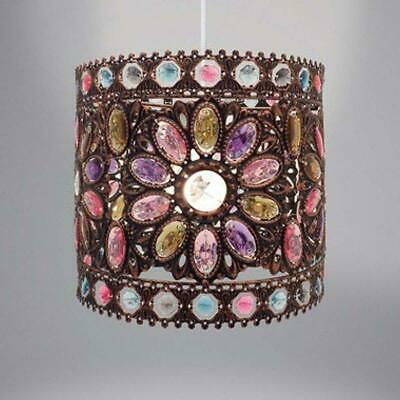 Vintage Moroccan Style Chandelier Lampshade Ceiling Lamp Shade Crystal Droplet