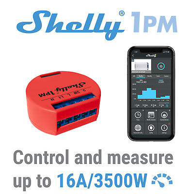 Shelly 1 PM One Smart Wireless Relay Switch WiFi Open Source Home Automation APP