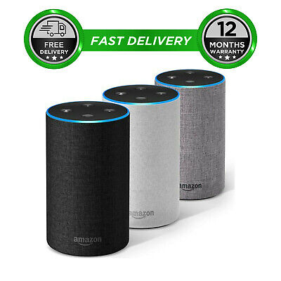 Amazon Echo 2nd Generation Heather Grey Charcoal Sandstone Fabric Alexa Smart