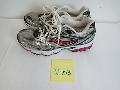 744a7f9f Womens Saucony Grid Stratos 5 Gray Pink Running Training Shoes Size 9.5M  N958
