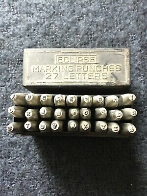 Eclipse 1.5mm Letter Punches 27 Punches Full Alphabet &