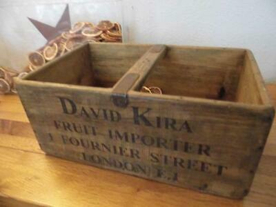Large Vintage Style Wood Storage Crate Banana Box Bananas Fruit Importer London
