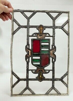 Antique Leaded Stained Glass Gothic Window