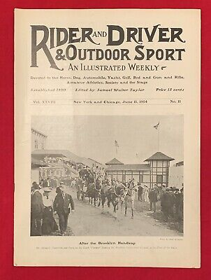 Early 1904 Rider and Driver Magazine Horses & Outdoor Sports Antique 6/11/1904
