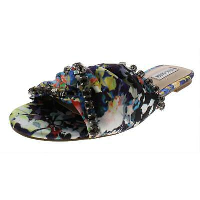 Steve Madden Womens Spear Leather Slides Embellished Flats Sandals BHFO 1339