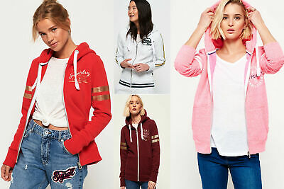 New Womens Superdry Hoodies Selection - Various Styles & Colours 090519