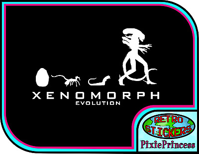 ALIEN XENOMORPH LARGE Sticker / Decal - Choose Color & Size - Ripley
