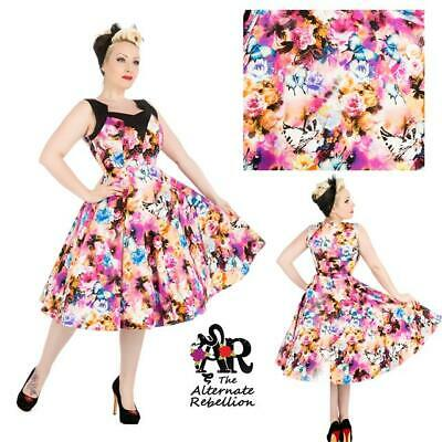 f12648c9fb03 LUNA MOTH SWING DRESS by HEARTS & ROSES LONDON ALTERNATIVE RETRO 50's  VINTAGE