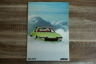 Fiat X1/9 1300 Early-Mid 1970s Belgian & Dutch Market Sales Brochure number 3693