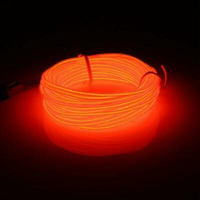 EL LED Light 5 m Flexible Soft Tube Wire Neon Glow Car Rope Strip Light RED