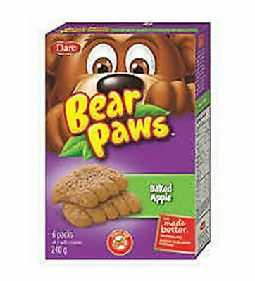 Dare Bear Paws Baked Apple Soft Snack Cookies, 240g/8.5oz,(Imported from Canada)