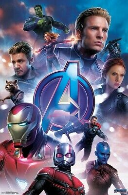 AVENGERS ENDGAME - CHARACTER COLLAGE POSTER - 22x34 - MARVEL MOVIE 17255